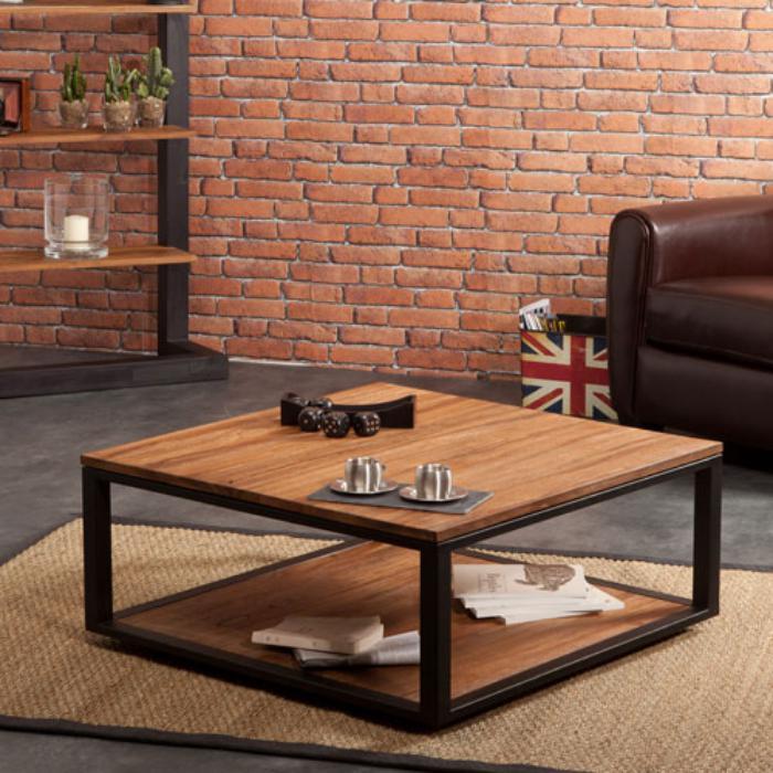 table-en-teck-design-carré-mur-en-briques-sofa-en-cuir