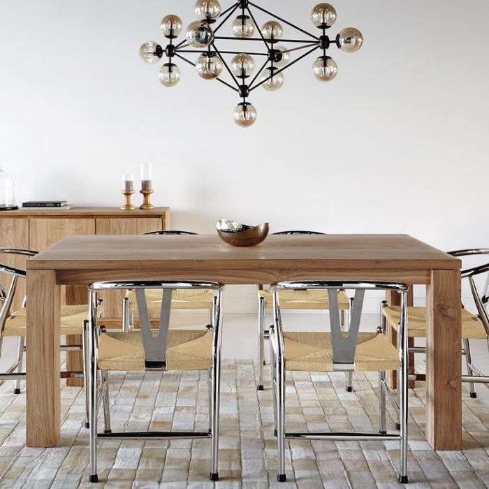 table-en-teck-solide-desin-rectangulaire