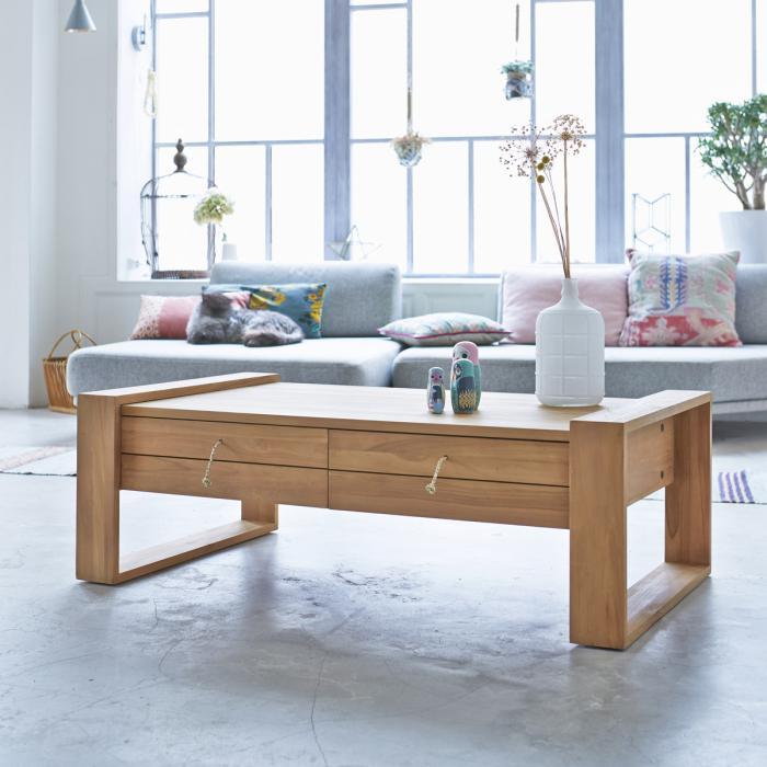 donnez un cachet exotique l 39 int rieur avec une belle table en teck. Black Bedroom Furniture Sets. Home Design Ideas