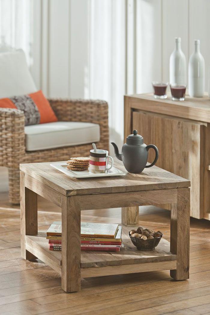 Donnez un cachet exotique l 39 int rieur avec une belle for Petite table basse en bois