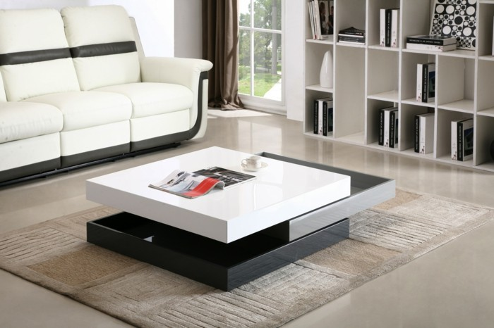 La table basse design en mille et une photos avec beaucoup d 39 id es for Ikea tapis salon
