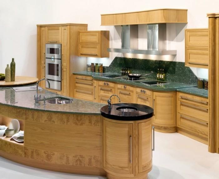 La cuisine arrondie dans 41 photos pleines d 39 id es for Cuisine integree en bois