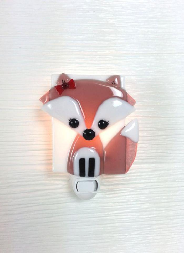 veilleuse-pour-bébé-lampe-veilleuse-renard-sympathique
