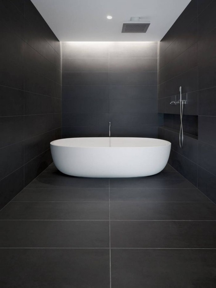 La beaut de la salle de bain noire en 44 images for Humidite salle de bain solution