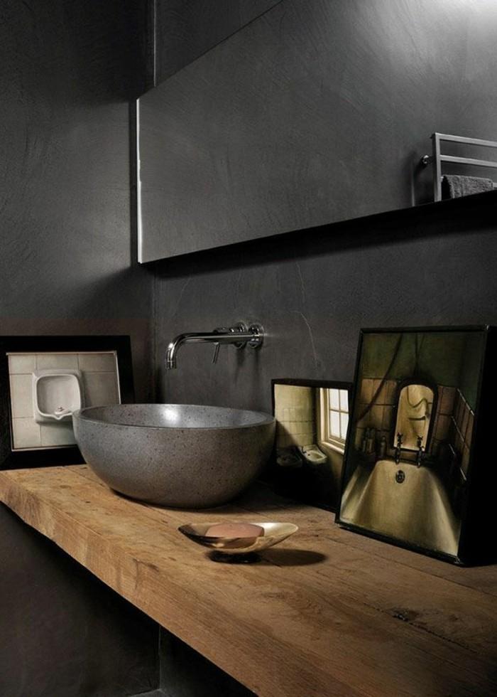 La beaut de la salle de bain noire en 44 images - Salle de bain idee couleur ...