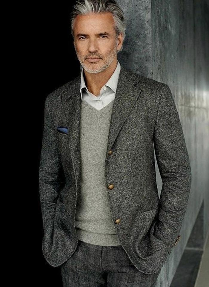 Le costume gris anthracite homme en 40 photos - Costume gris fonce ...