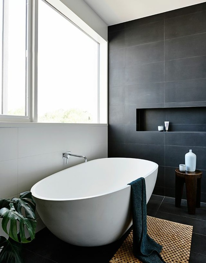 Salle de bain faience noire - Tapis de salle de bain castorama ...