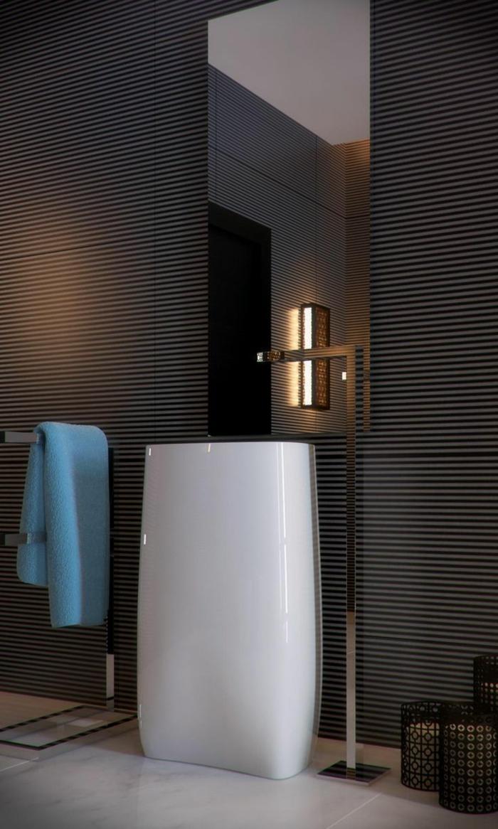 Exemple salle de bain moderne for Faience salle de bain noir
