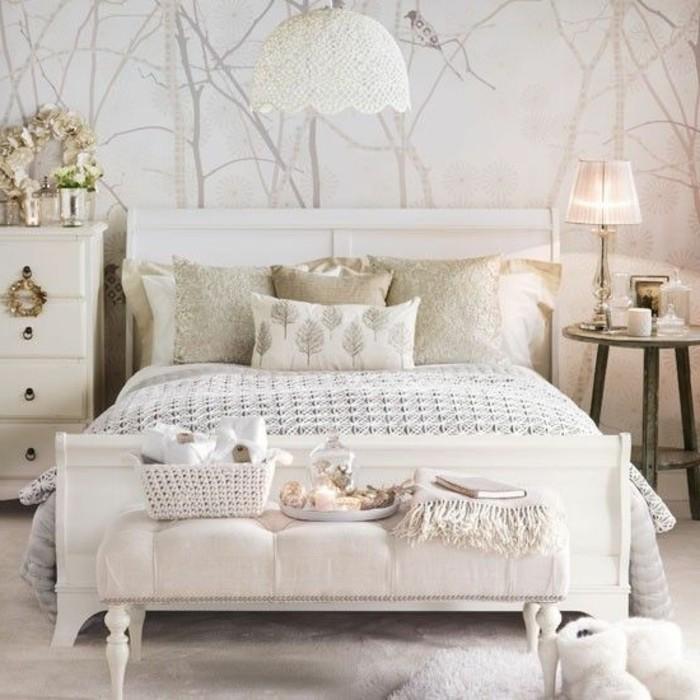 Couleur beige chambre a coucher - Papier peint couleur lin ...