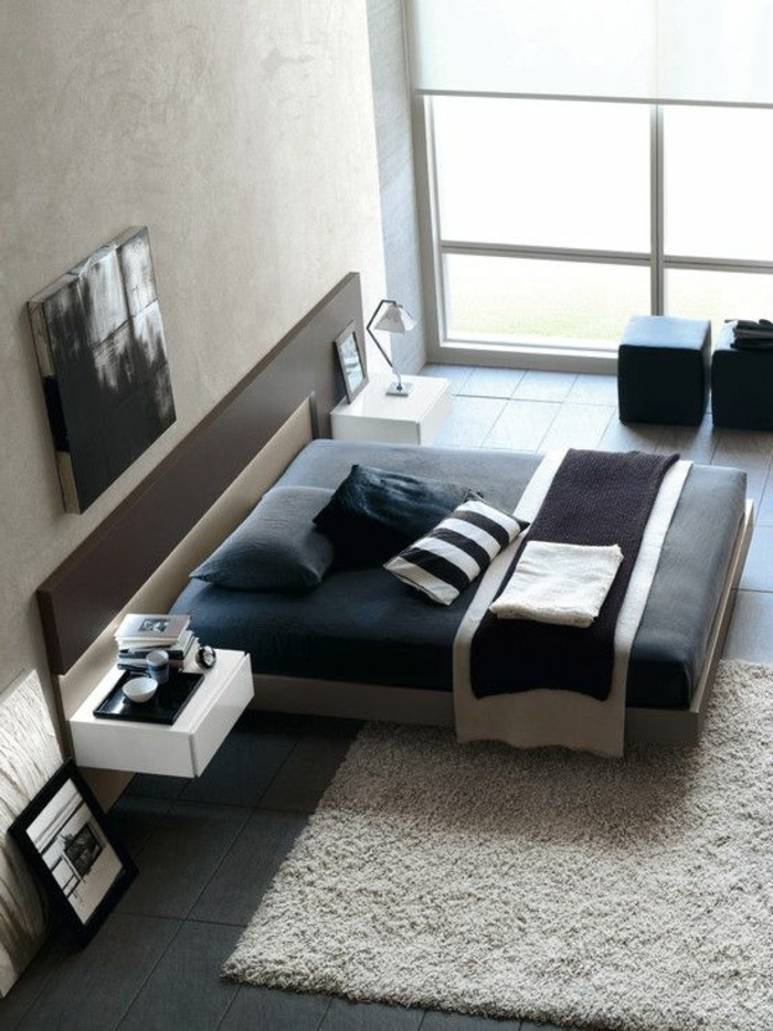 with tapis chambre a coucher. Black Bedroom Furniture Sets. Home Design Ideas