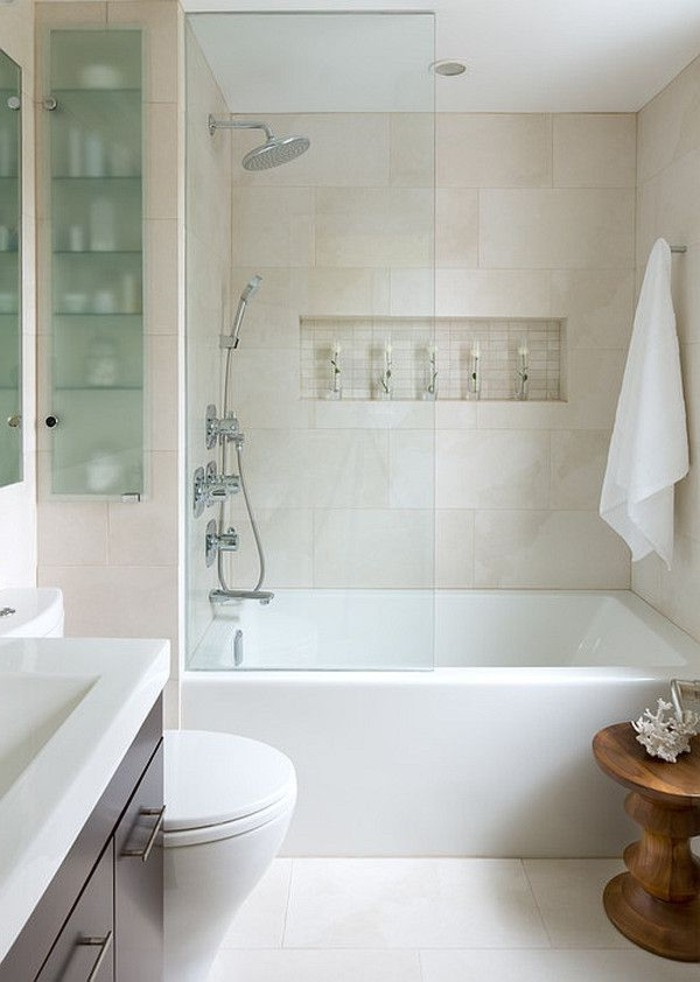 Relooker une salle de bain 42 id es en photos for Relooker salle de bain