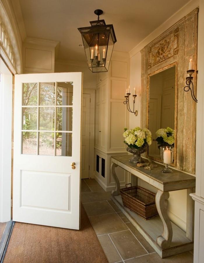 0-miroir-retro-chic-tapis-marron-pour-l-entree-moderne-et-chic-tapis-marron