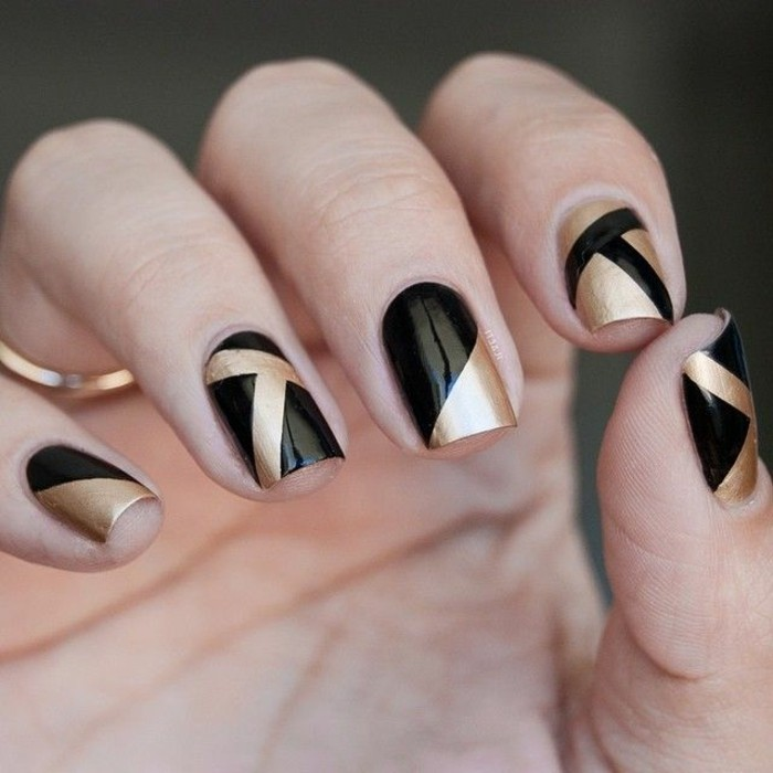 Ongles Decoration Simple : Ongle en gel moderne