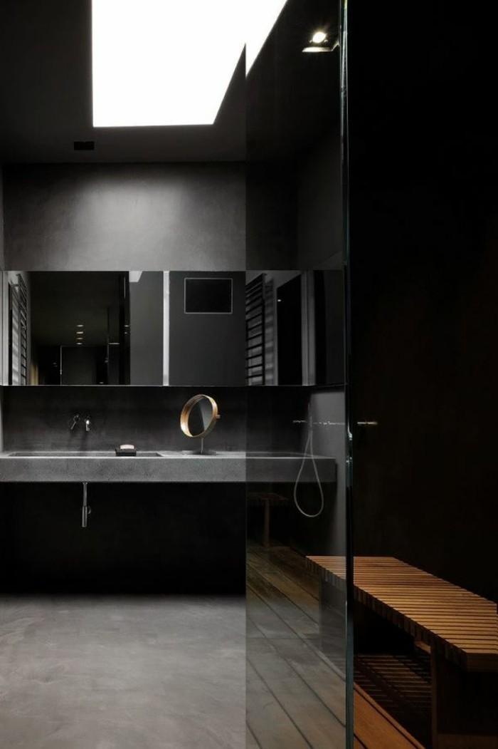 Salle de bain faience noire carrelage noir salle de bain for Faience rose pour salle de bain