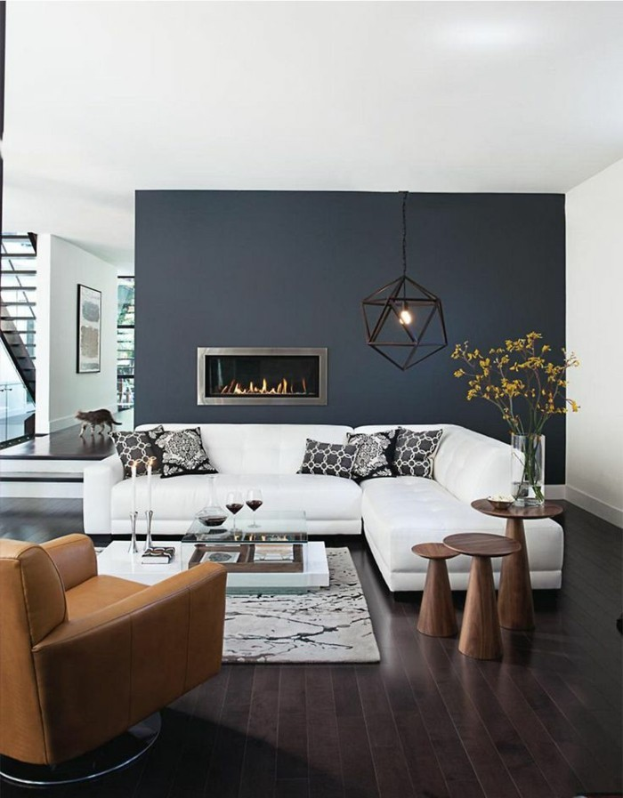 Le gris anthracite en 45 photos d 39 int rieur - Appartement au design traditionnel moderne colore ...