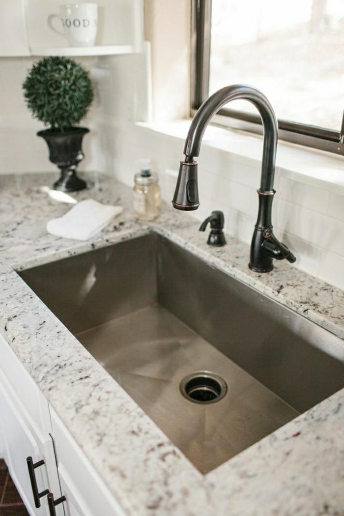 vier cuisine granit evier cuisine blanc brico depot. Black Bedroom Furniture Sets. Home Design Ideas