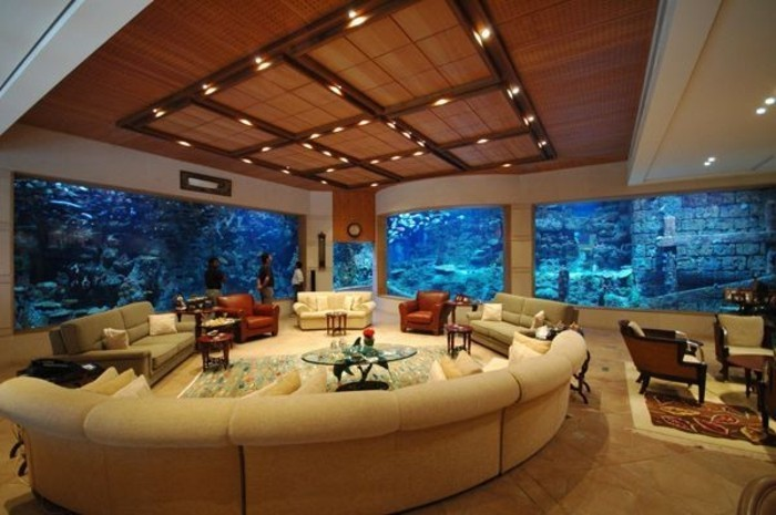are aquarium in the living room live levels home