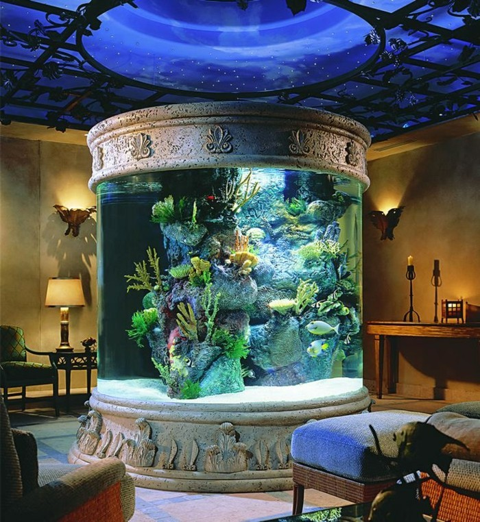 L aquarium mural en 41 images inspirantes for Deco aquarium