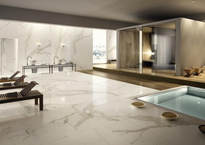 Le carrelage en marbre en 42 photos - Comment nettoyer un sol en marbre ...