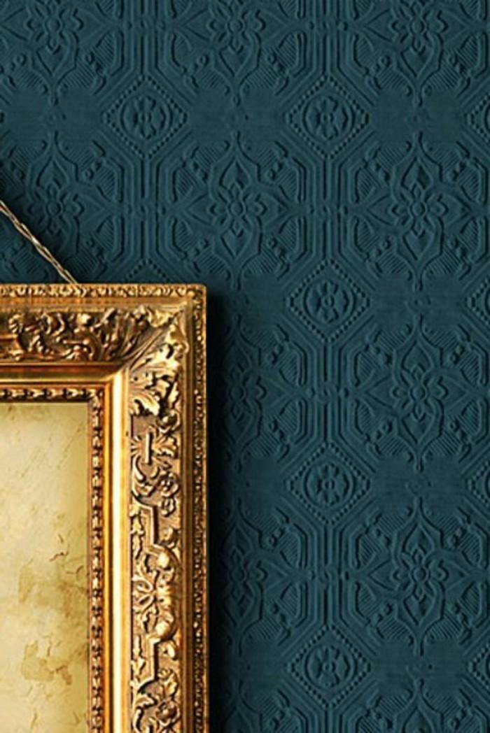 Les papiers peints design en 80 photos magnifiques - Papier peint bleu fonce ...