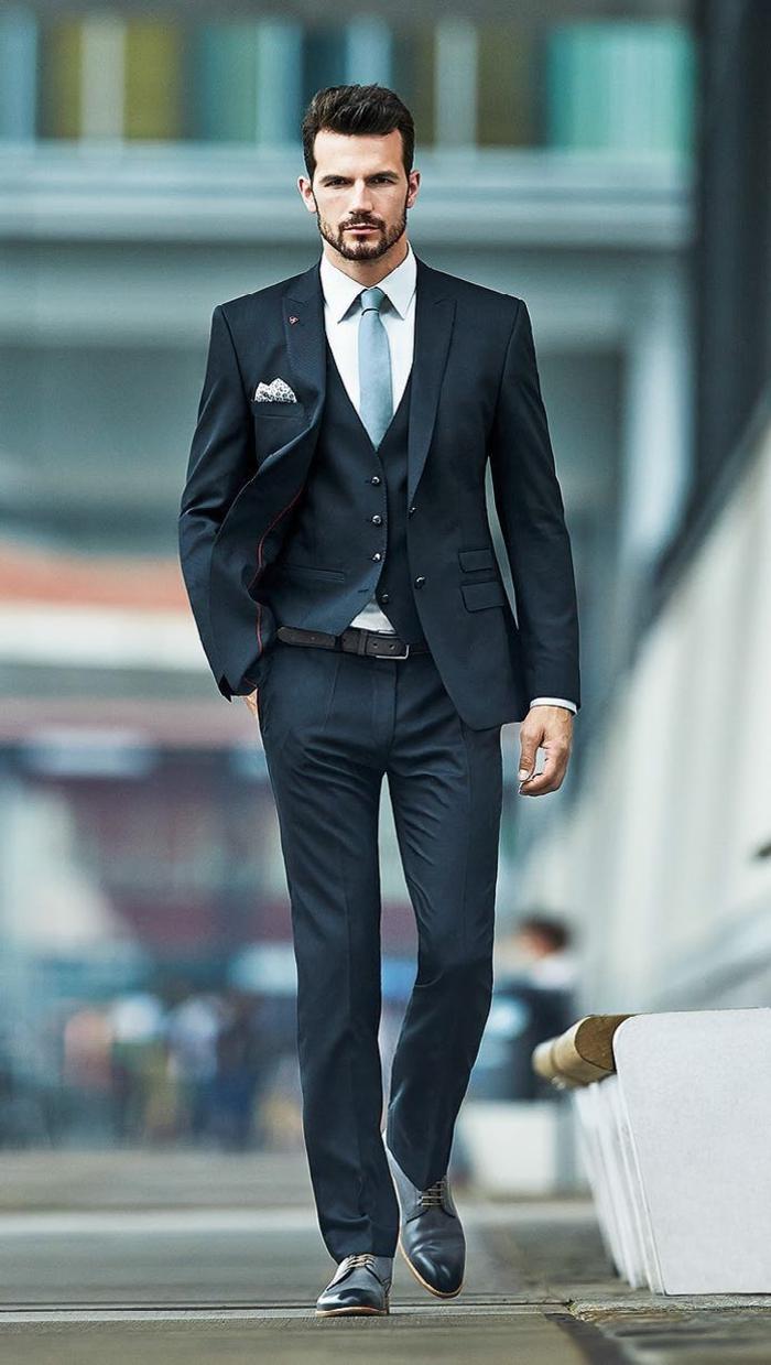 Le costume gris anthracite homme en 40 photos - Vetement homme classe ...