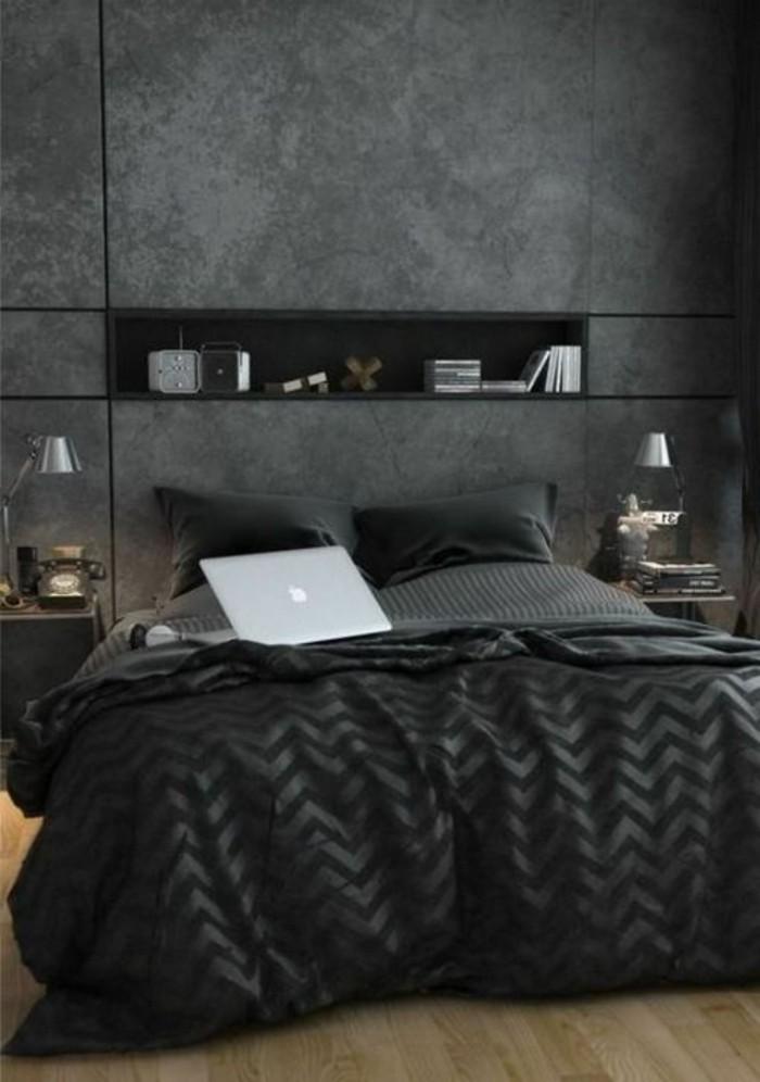 Le gris anthracite en 45 photos d 39 int rieur for Interieur de chambre a coucher