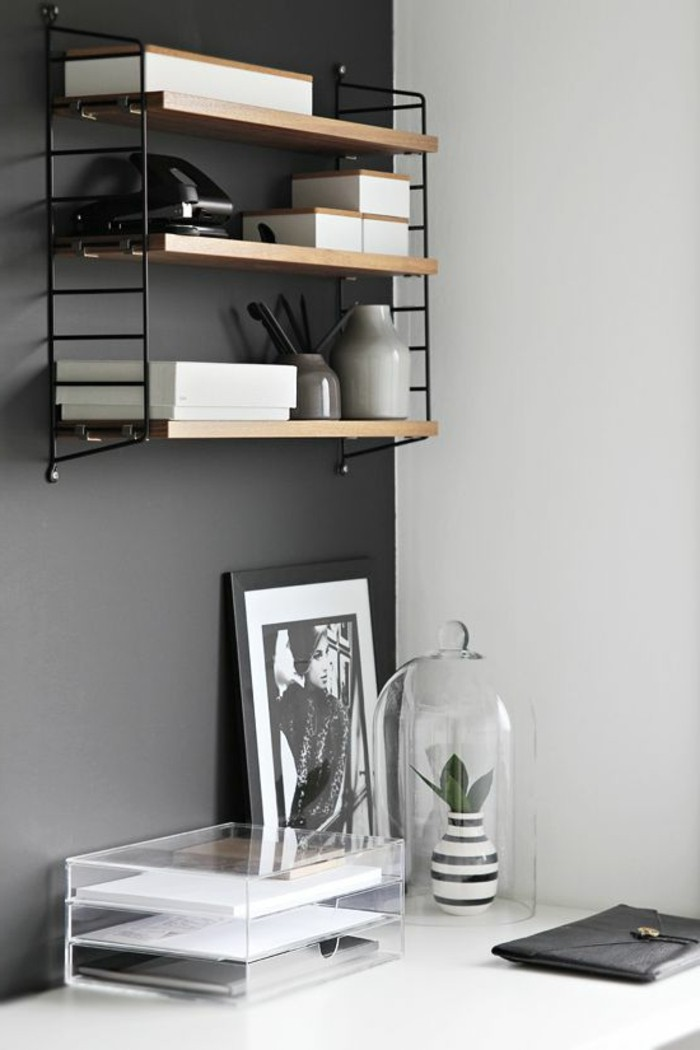 Le gris anthracite en 45 photos d 39 int rieur - Decoration pour les murs ...