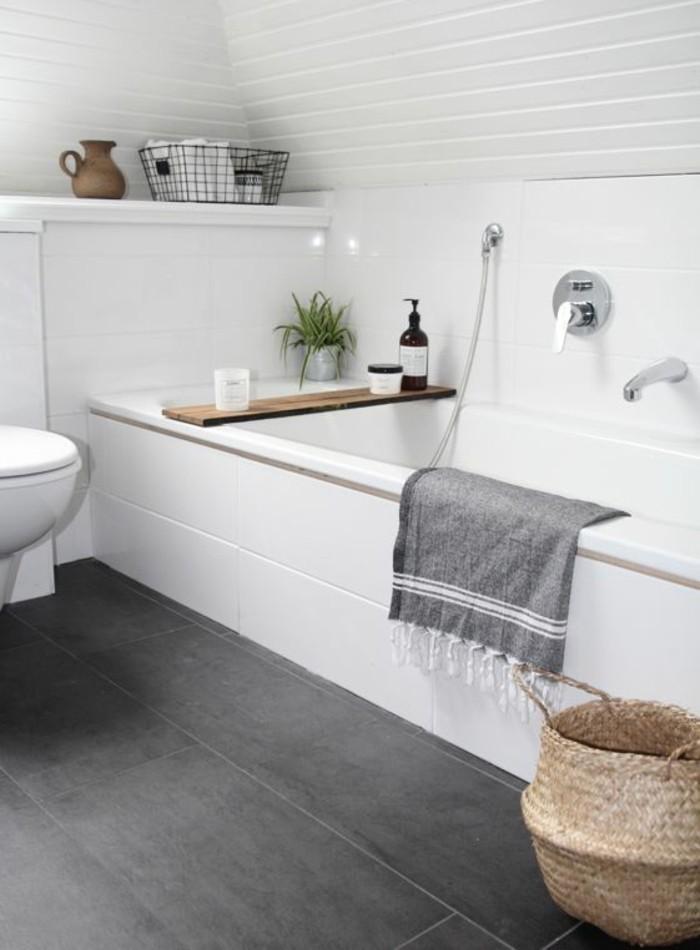 Salle de bain sol gris fonce avec des id es int ressantes pour la conception de - Salle de bain sol gris ...