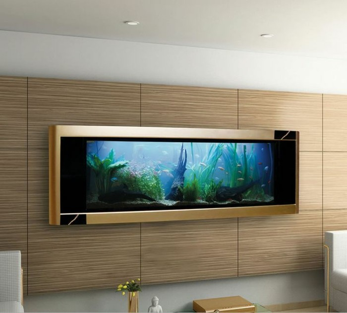 L aquarium mural en 41 images inspirantes for Decoration pas cher pour maison