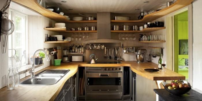 Am nager une petite cuisine 40 id es pour le design for Rangement pour petite cuisine