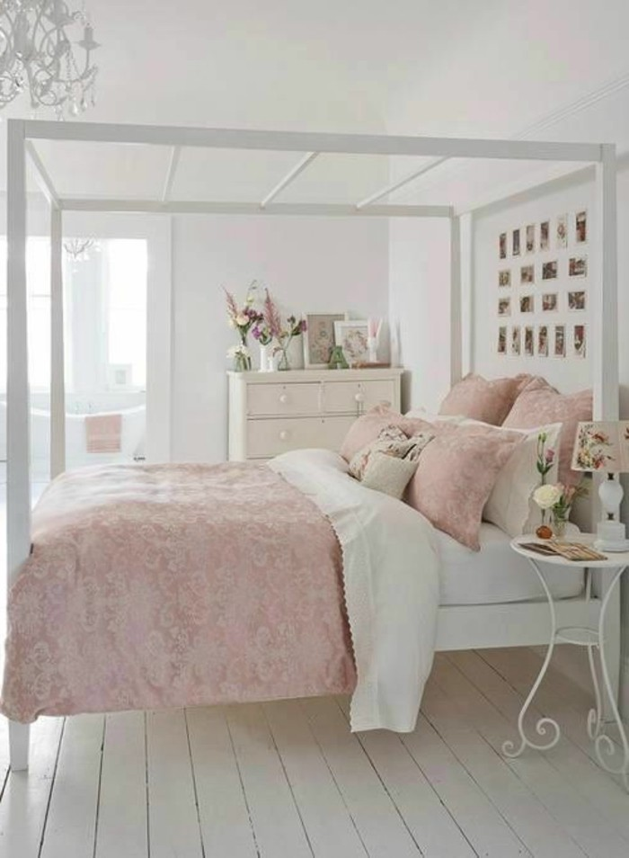 la chambre coucher avec une d co shabby et meubles gustaviens. Black Bedroom Furniture Sets. Home Design Ideas