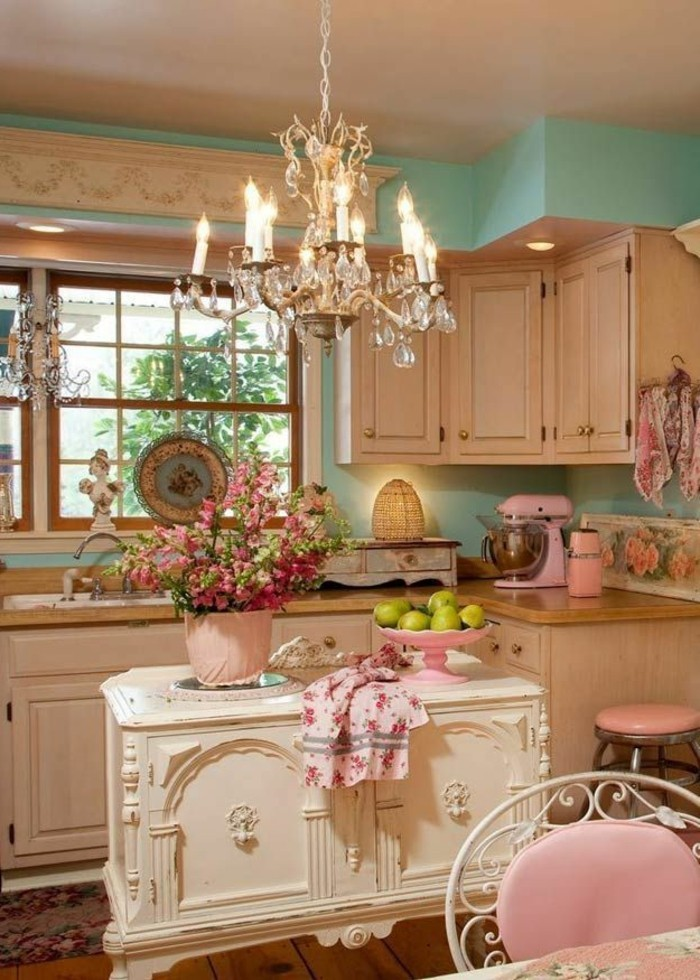 1-cuisine-shabby-chic-deco-meuble-gustavian-tapisserie-kitch-idee-pour-meubles-shabby-chic