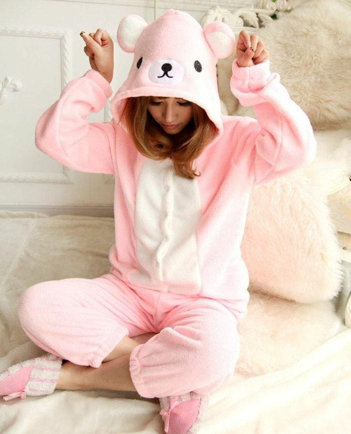 1-joli-pyjama-femme-etam-pyjama-pilou-pilou-de-couleur-rose-comment-choisir-le-meilleur-pyjama-femme