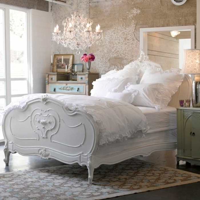 Les meubles shabby chic en 40 images d 39 int rieur for Decoration chambre a coucher contemporain