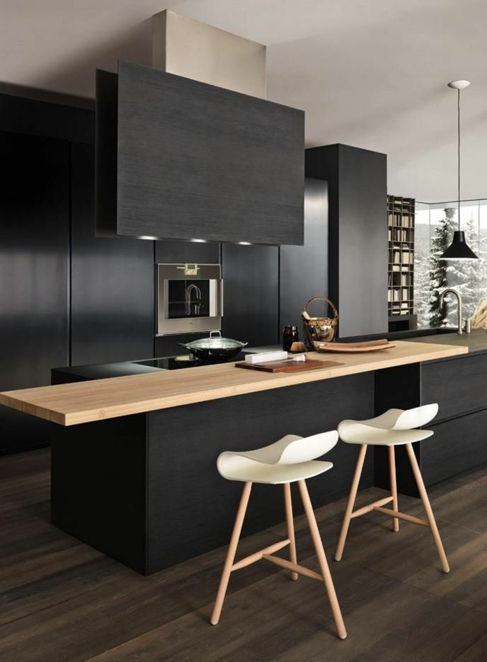 cuisine grise et bois clair yw29 jornalagora. Black Bedroom Furniture Sets. Home Design Ideas