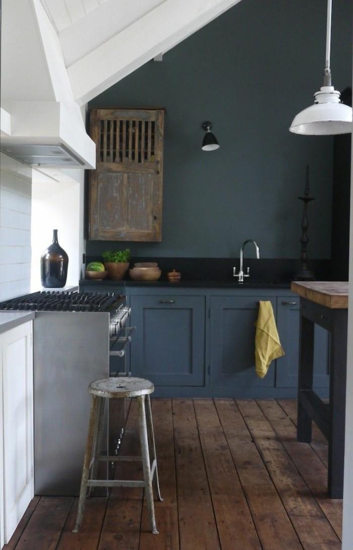 ... meubles de cuisine, repeindre une cuisine en bois, repeindre meuble de