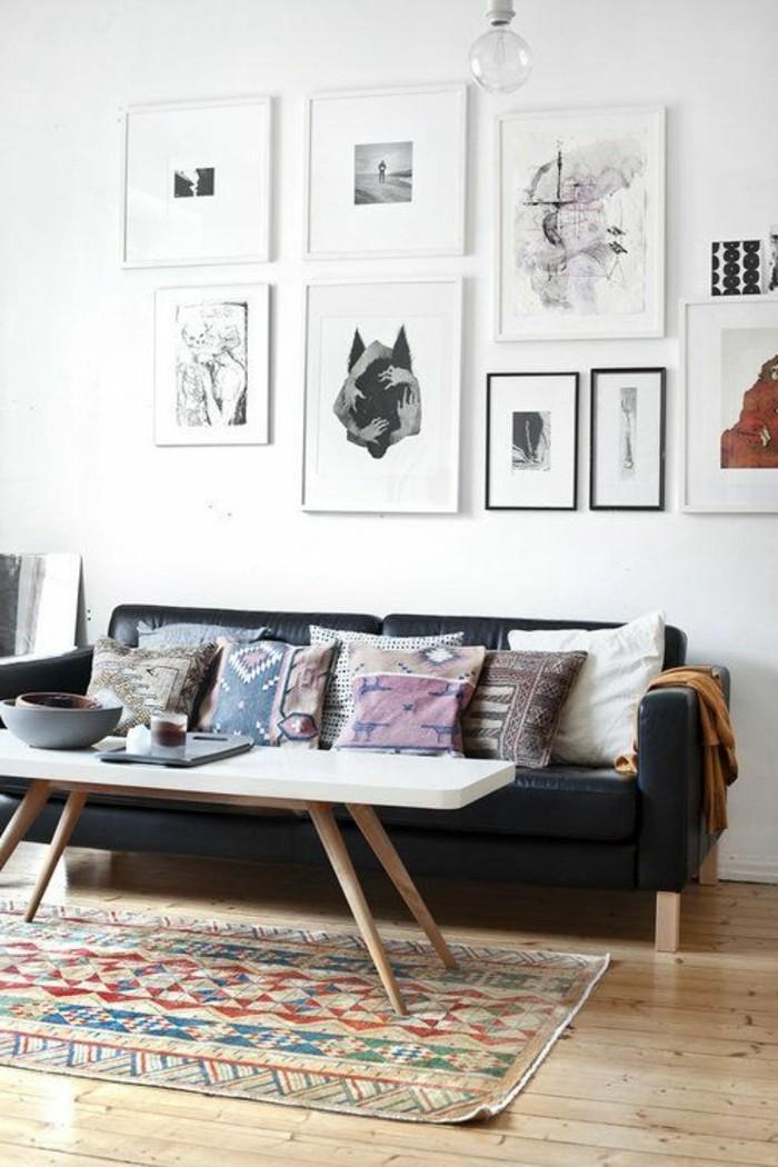 43 id es en photos pour choisir la meilleure carpette - Salon en cuir pas cher ...