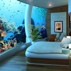 L' aquarium mural – un rêve pour les enfants ou un objet déco?