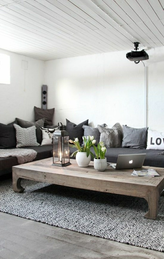 41 images de canap d angle gris qui vous inspire for Deco woonkamer idee