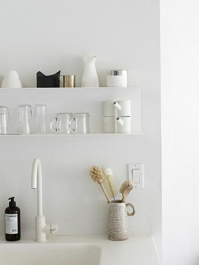 Ophreycom  Evier Cuisine Design Blanc ~ Prélèvement d