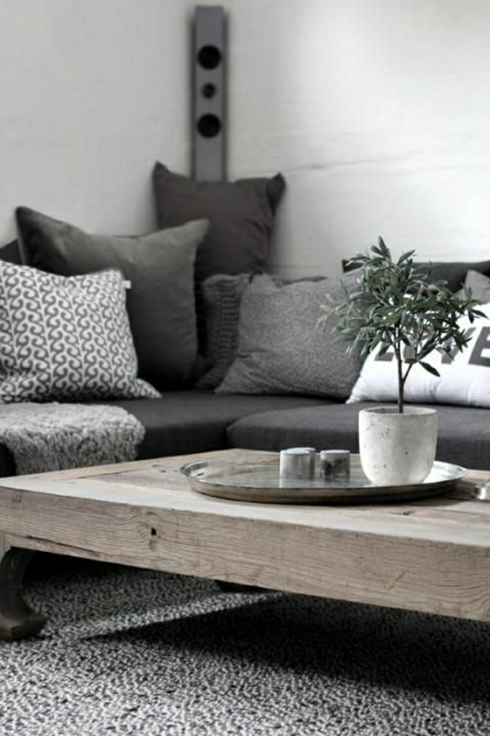 41 images de canap d angle gris qui vous inspire - Table basse interiors ...
