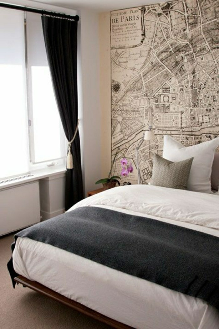 Les papiers peints design en 80 photos magnifiques - Papier peint chambre moderne ...