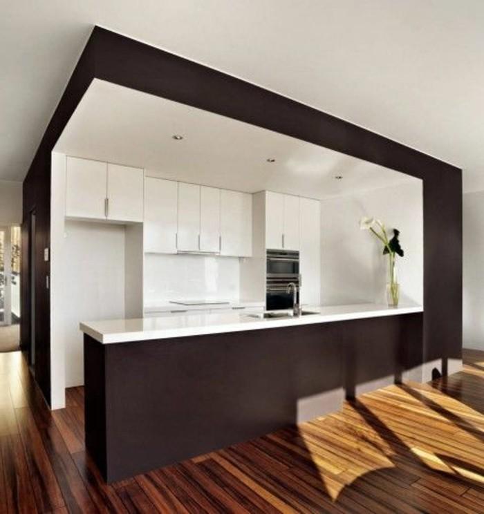 3-cuisine-marron-foncé_blanc-repeindre-les-meubles-de-cuisine-repindre-cuisine-chene