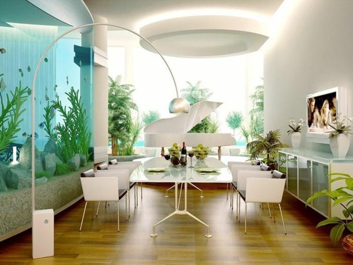 L aquarium mural en 41 images inspirantes - Decoration pour les murs ...