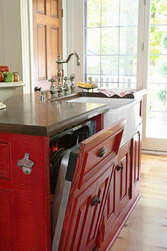 meuble-de-cuisine-rouge-repeindre-les-meubles-de-cuisine-repeindre ...