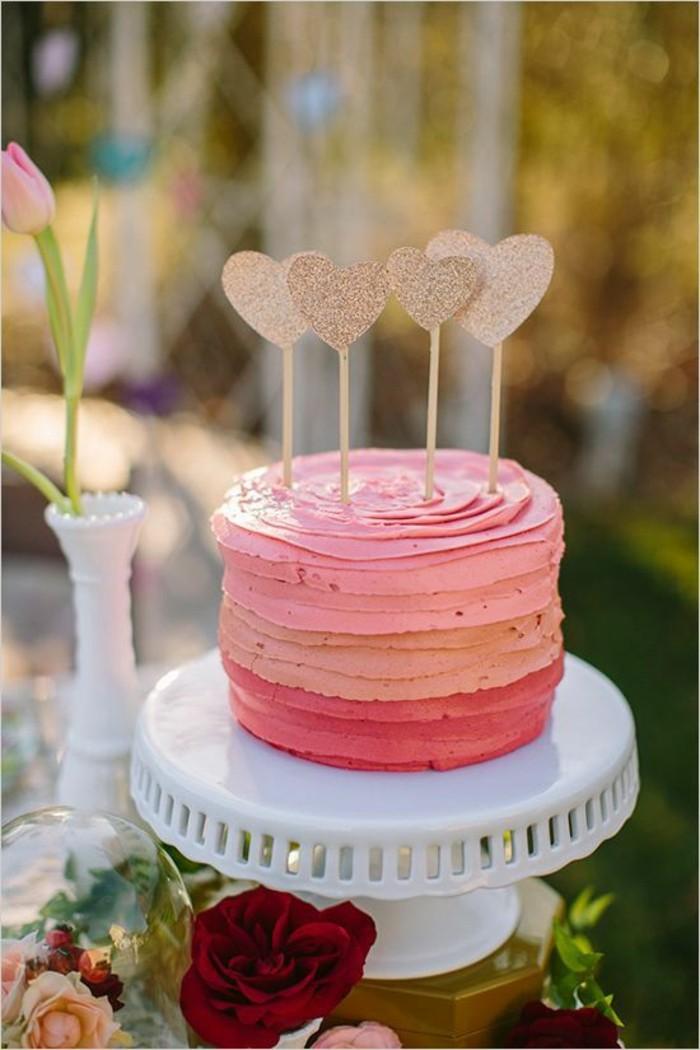 Adorable-image-de-gâteau-photo-gateau-photo-de-gateau-coeurs-roses-valentine