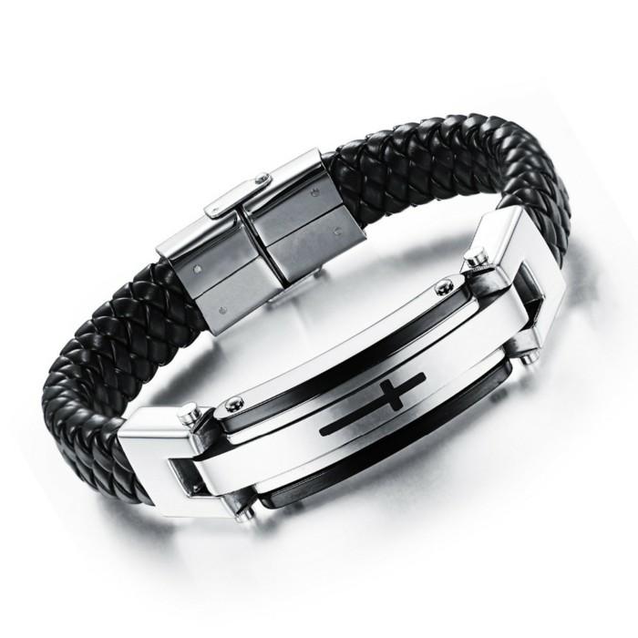 Bracelet-cuir-homme-bracelet-homme-luxe-gourmette-homme-argent-resized