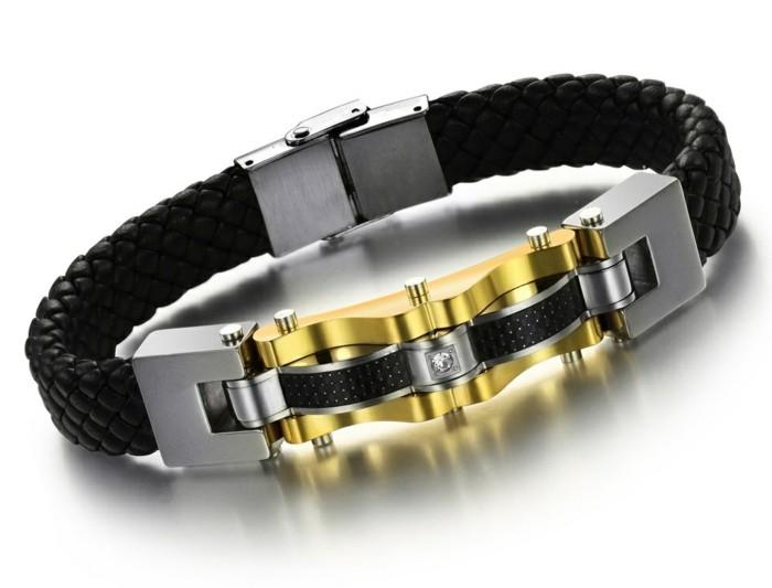 Bracelet-gourmette-homme-argent-luxe-acier-cuir-resized