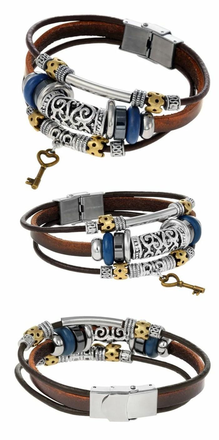 Bracelet-homme-cuir-luxe-acier-gourmette-homme-argent-resized