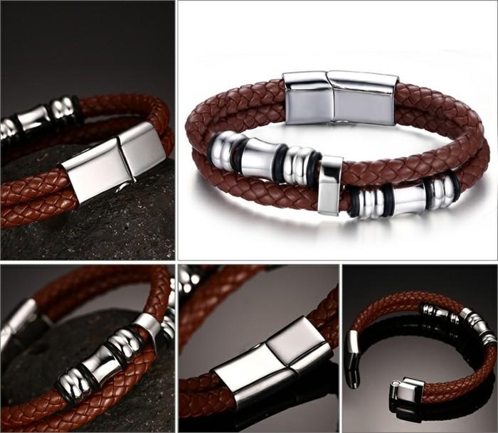 Bracelet-homme-cuir-luxe-gourmette-homme-argent-bracelet-cuir-resized